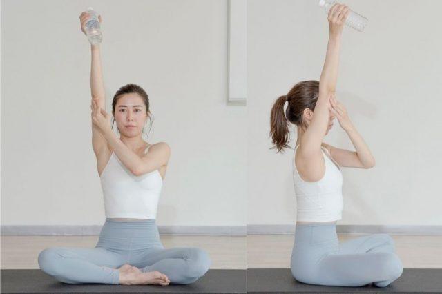另外在伸展手臂的同时要尽量将双臂的肌肉群拉伸到极致