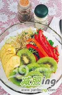 三款水果沙拉帮你排毒减肥