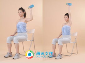 冬季最适合OL办公椅塑身操