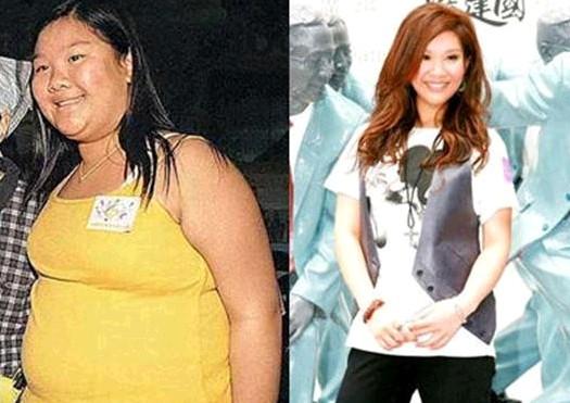 女星胖瘦对比照保你决心减肥
